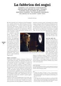 La fabbrica dei sogni - TicinoSette n°32:2015